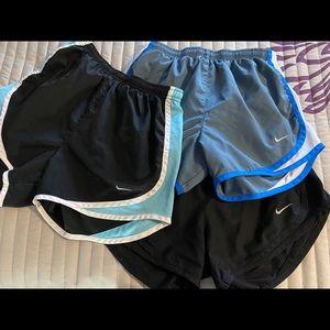 3 Pair Nike Running Shorts XS
